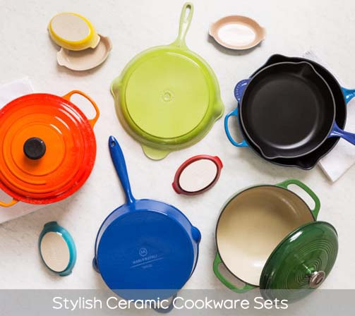 Stylish Ceramic Cookware Sets