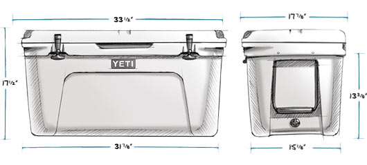 YETI Tundra 75 Ice Chest Dimensions