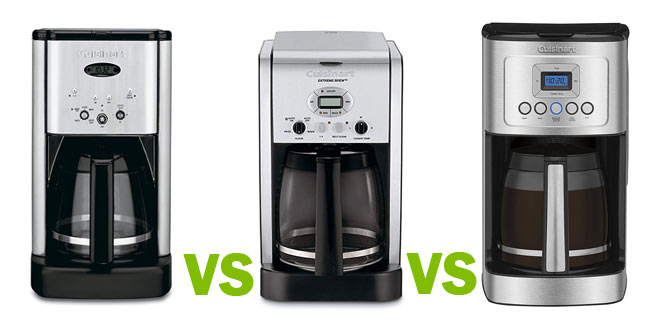 Cuisinart DCC-1200 vs. DCC-2650 vs. DCC-3200: What's the Difference?